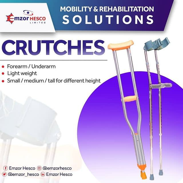 CRUSHES crush meaning, MOBILITY AND REHABILITATION SOLUTIONS – CRUTCHES, Emzor Hesco